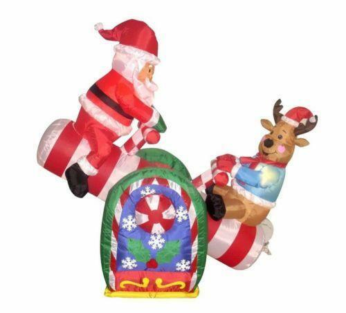 inflatable santa claus yard decor ebay - Santa Claus Christmas Decorations