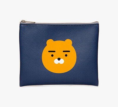 KAKAO FRIENDS Character RYAN Synthetic Leather Pouch Cosmetic Bag