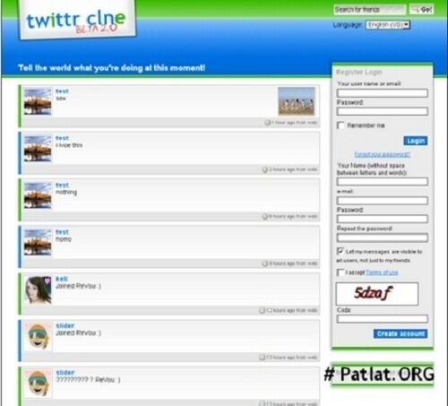 Twitter.Com New Clone Php Script