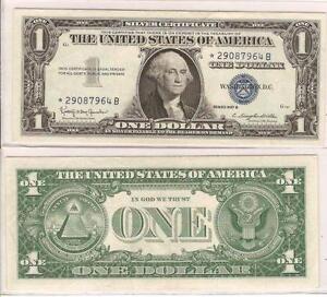 1957 Blue Seal Dollar Bills