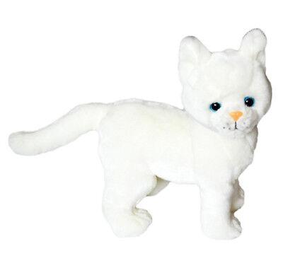 Kingdom Kuddles White Cat Snowball- Stuffed Animal for - Stuffed Snowballs