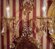 Antique Crystal Sconces