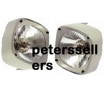 Head Light Lamp With Cowl Pair Lh Rh Massey Ferguson Tractor 135 165 185