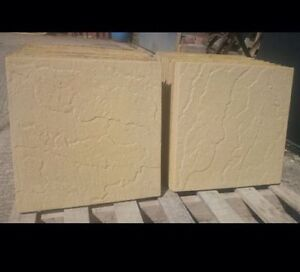 50 BUFF CONCRETE RIVEN PAVING SLABS 450x450 FREE DELIVERY
