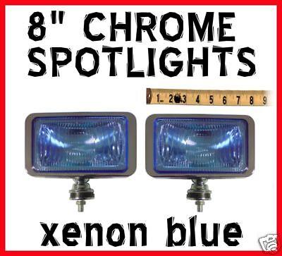 8 XENON Blue Rectangle Spotlights ford ranger all