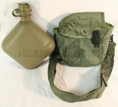 Blanket Covered Canteen Drinking Bottle For Camping Hiking 2 Quart Rothco 175