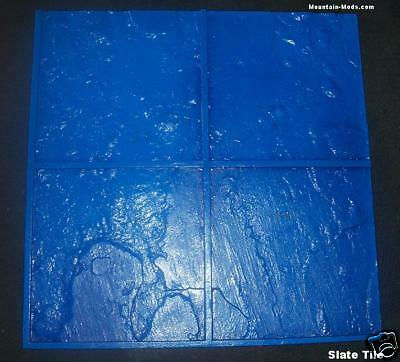 5 Italian Slate Tile Decorative Concrete Cement Imprint Stamps Mats New 24x24