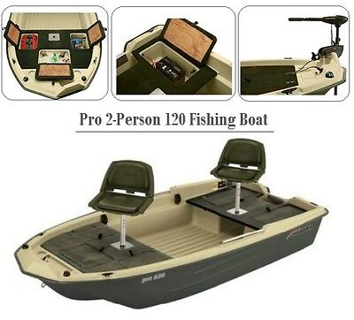 Fishing Boat Bass 2 Person With Seat Chairs Motor Mount Rod Holders Lake River