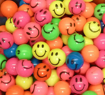 10 x GUMMIBALL GUMMIBÄLLE Flummi Flummis Ball LACHGESICHT SMILIE NEU