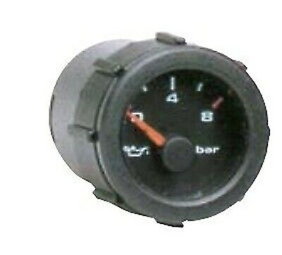 Manómetro Eléctrico Presión Bomba de Aceite Motor 12V Barra 0-8 Newgardenstore