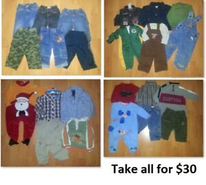 6-12 Mths Baby Boys Clothing Lot 3 (Take 29 Pieces for $30)