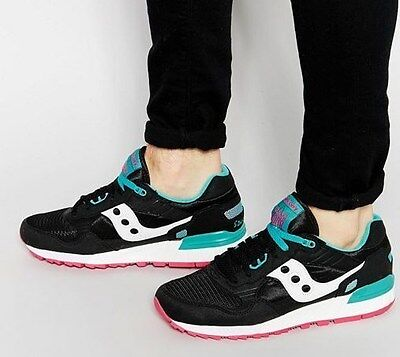 New Free Shipping No Box Gs Size Saucony Shadow 5000 Black Pink White Turquoise