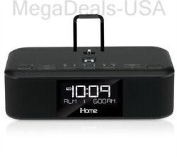 iHome iDL95 Lightning Dock Clock Radio & USB Charge/Play for iPhone/iPad - (D2)