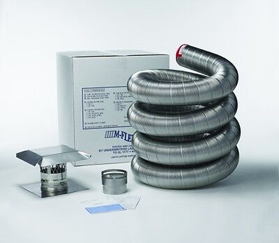 Stainless Steel Flexible Basic Chimney Liner Kits, Available in Various -