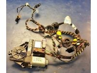 SKODA OCTAVIA MK2 FRONT DRIVERS WINDOW REGULATOR MOTOR+ WIRING LOOM 1KO959793G