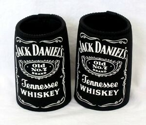 SET-OF-2-JACK-DANIELS-TENNESSEE-WHISKEY-LABEL-BEER-CAN-STUBBY-COOLERS-HOLDERS