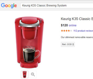 Keurig K35 Classic Brewing System - New in Box (YOU SAVE $55)