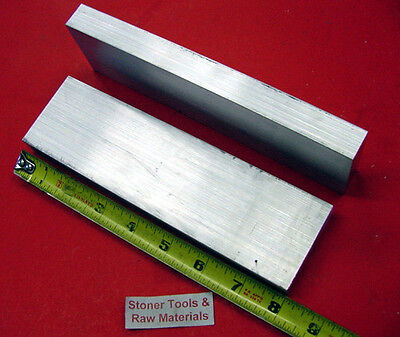 2 Pieces 1 X 2-12 Aluminum 6061 Flat Bar 8 Long T6511 Solid Plate Mill Stock