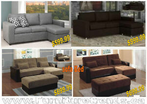 Deal Of the day Sectional with Ottoman Peterborough Peterborough Area image 5