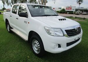 2014 Toyota Hilux KUN26R MY14 SR Double Cab White 5 Speed Automatic Cab Chassis Hidden Valley Darwin City Preview