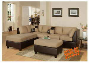 Today Special Sectional with Ottoman
