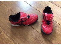 Clarks red trainers 12F