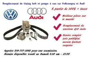 Remplacement de timing belt sur Volkswagen et Audi