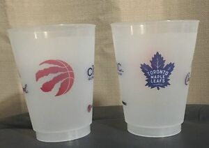 Toronto Maple Leafs and Toronto Raptors Plastic Cup