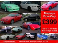 Car & Van Resprays from only £399