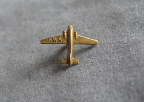 Vintage NWA Northwest Airlines Aviation Pilot Wings Pin