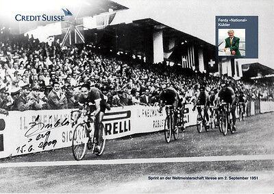 Ferdy Kübler (SUI) † Tour de France Sieg 1950 original signiert/signed !!