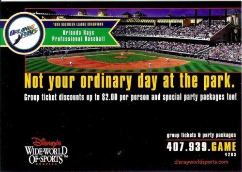 "Disney's Wide World of Sports Orlando Rays Post Card, 4¼"" x 6"""