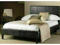 ☀️💚EXPRESS DELIVERY💚☀️HIGH QUALITY FAUX LEATHER BED FRAME (GOOD DEAL WITH MATTRESS)