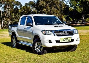 2012 Toyota Hilux KUN26R MY12 SR Double Cab White 4 Speed Automatic Utility Medindie Walkerville Area Preview
