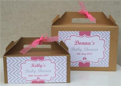 Persönliches Geschenk Tasche Box Begünstigt - Babyparty Vintage Junge / Mädchen