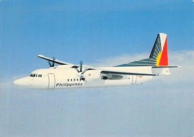 Skyliner Cards No  028 Fokker 50 Philippine Air Lines Airline Airplane Postcard