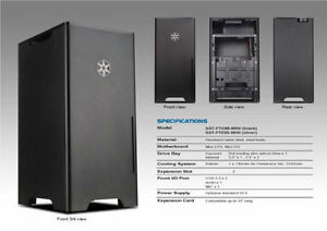 BRAND NEW!! Silverstone Aluminum mini Tower FT03B-MINI - Black Kitchener / Waterloo Kitchener Area image 1