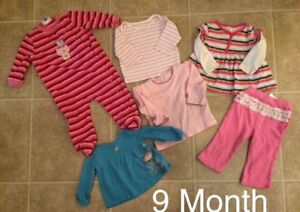 9 Month Girl Clothing Lot