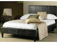 🎆💖🎆Made to UK Standard🎆💖🎆FAUX LEATHER BED FRAME IN SINGLE,SMALL DOUBLE,DOUBLE & KING SIZE
