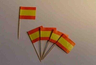 Flaggen Zahnstocher Spanien Fahne Flagge Minipicker Partyzahnstocher