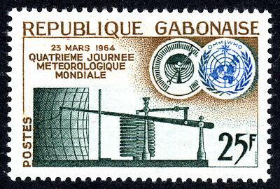 Gabon 170, der 4. Auflage Welt Meteorologisch Tag. Barograph, Emblem, 1964 gebraucht kaufen  Versand nach Germany