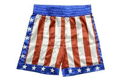 Apollo Creed Boxing Trunks Shorts Rocky Balboa Adonis Johnson Movie Stallion (Boxing Shorts Kostüm)