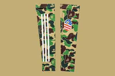 Authentic Bape A Bathing Ape x Adidas Camo Football SB Arm Sleeve Size L-XL NEW