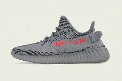 Adidas Yeezy 350 V2 Beluga 2.0 Grey Orange AH2203 SZ 9.5 100% Authentic Kanye