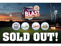4 x t 20 blast finals day tickets available sold out event edgbaston sat 15th sep