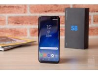 Unlocked Samsung Galaxy S8 - as good as new with case and more