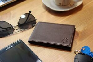 New in Box High Quality Leather Minimalist Wallet (Brown)