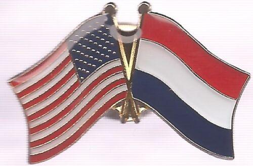 LOT OF 12 Netherlands Friendship Flag Lapel Pins - Netherlands Crossed Flag Pin