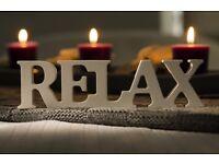Massage therapist back in Swindon, Swedish massage, deep tissue and beauty treatments