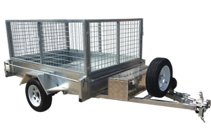 7x5 box trailer $28 p/w hot dip galvanized with cage Garbutt Townsville City Preview